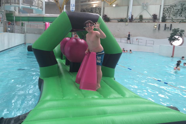Levenmouth Pool Party with Inflatable