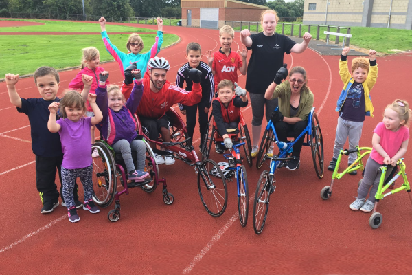 Group of children and adults from Disability Sport Fife